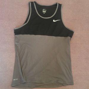 Nike Black/Grey Lightweight Dri-fit Tank